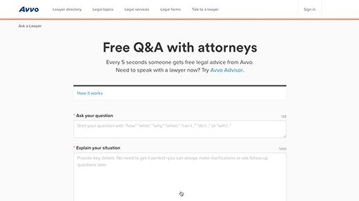 Avvo Ask a Question b-roll