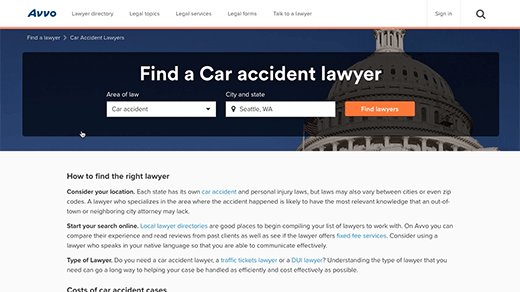Avvo Find a Lawyer b-roll