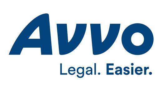Avvo logo navy tagline