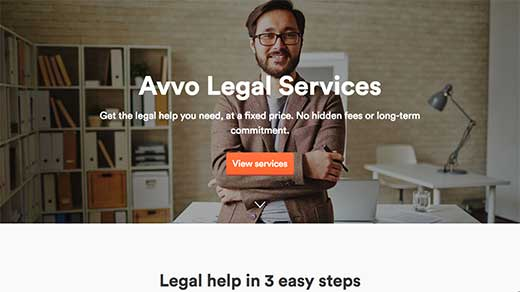 Avvo Legal Services screenshot