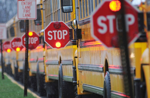 school bus safety / back to school safety tips for drivers slow down: back to school means sharing the road school days bring congestion: school buses are picking up their passengers, kids on bikes are hurrying to get to school before the bell rings, harried parents are trying to drop their kids off before work.
