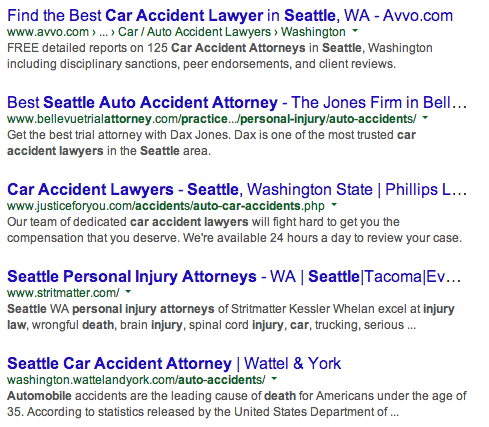 car accident seattle